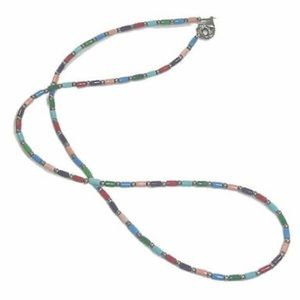 Silpada Sterling and Multi-Colored Bead Necklace